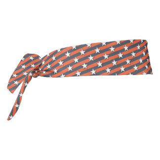 Superfan Blue and Orange Tie Headband