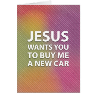 Superficial Jesus Greeting Card