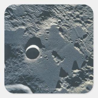 Superficie de la luna 5 colcomanias cuadradas