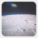 Superficie de la luna 6 calcomanía cuadradas