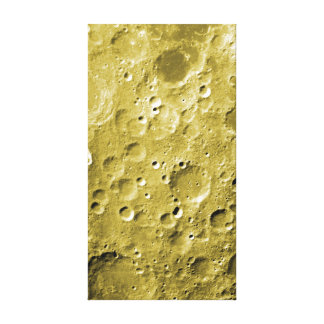 Superficie de la luna impresión en lienzo estirada