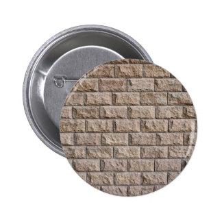 Superficie de la pared del marrón de las piedras pin redondo 5 cm