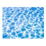 Superficie de la piscina tarjetas postales