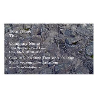 Superficie de la roca de la lava tarjetas de visita