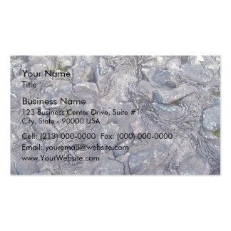Superficie de la roca de la lava tarjeta de visita