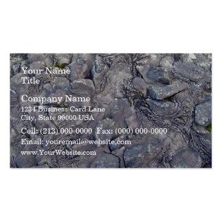 Superficie de la roca de la lava plantillas de tarjeta de negocio