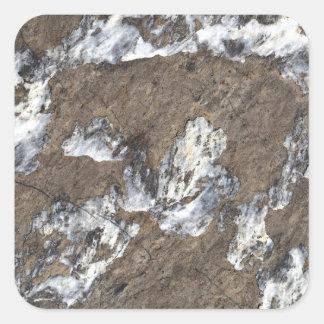 Superficie de la roca pegatina cuadrada