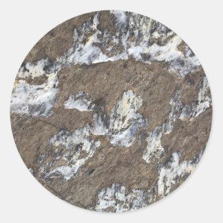Superficie de la roca pegatina redonda