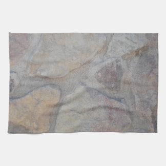 Superficie de la roca toallas