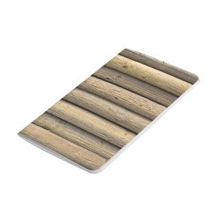 Superficie de madera cuadernos