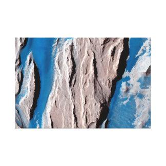 Superficie de Marte - formación occidental de las Impresion De Lienzo
