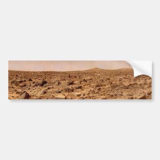 Superficie de Marte, paisaje marciano Etiqueta De Parachoque
