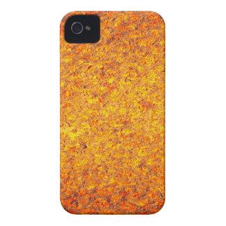 Superficie de metal oxidada amarillo-naranja abstr iPhone 4 Case-Mate cobertura