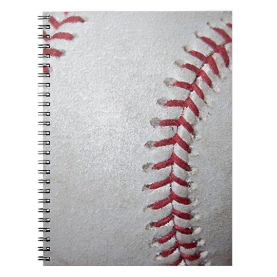 Superficie del béisbol del primer cuaderno
