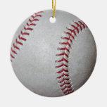 Superficie del béisbol del primer ornamentos de navidad