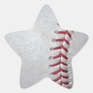 Superficie del béisbol del primer calcomanias forma de estrella