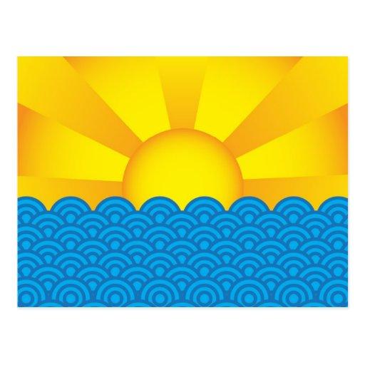 Superficie del océano tarjetas postales