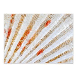 Superficie del Seashell Invitación 12,7 X 17,8 Cm