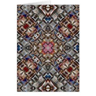 Superficie geométrica abstracta tarjeta de felicitación