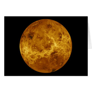 Superficie global del planeta Venus Tarjeta De Felicitación