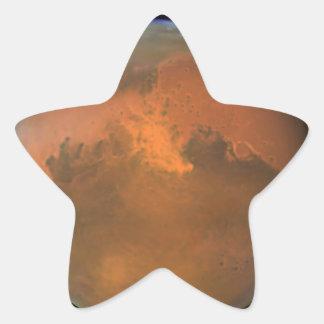 Superficie marciana de Marte (Hubble) Pegatina En Forma De Estrella