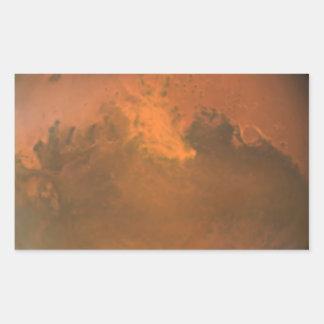 Superficie marciana de Marte (Hubble) Pegatina Rectangular