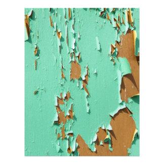 """Superficie pintada viejo verde folleto 8.5"""" x 11"""""""