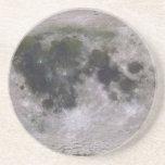 Superficie topográfica de la luna de la tierra posavasos manualidades