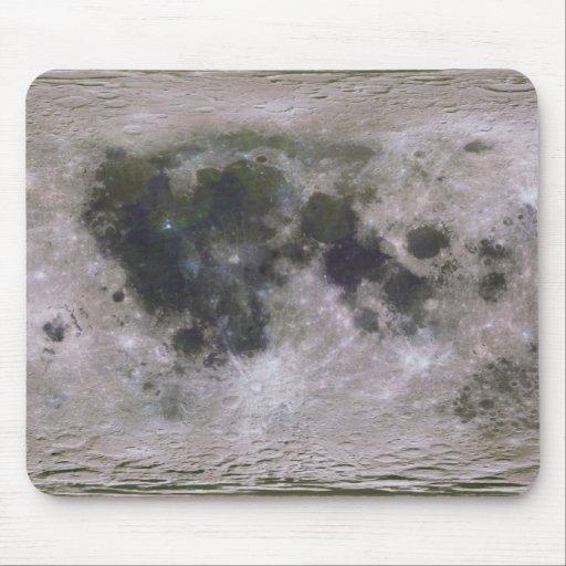Superficie topográfica de la luna de la tierra tapetes de raton