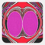 Superfly diseño rosado pegatina cuadrada