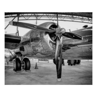 SUPERFORTRESS B-29 BOMBER STARBOARD ENGINE POSTER