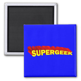 Supergeek 2 Inch Square Magnet