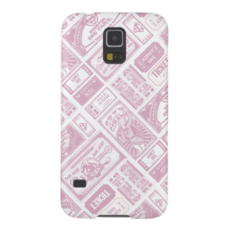 Supergirl Admit One Pattern Pink Cases For Galaxy S5