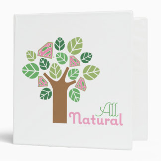 Supergirl All Natural Tree 3 Ring Binder