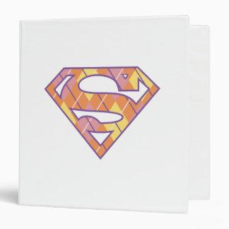 Supergirl Argyle Logo Binders