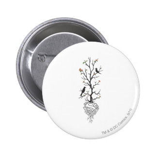 Supergirl Birds in the Tree Pinback Button