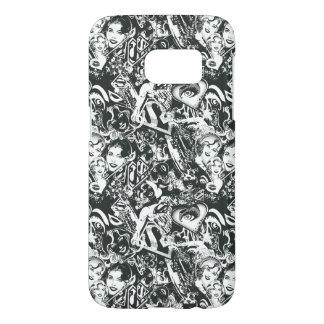 Supergirl Black and White Collage Samsung Galaxy S7 Case