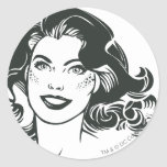 Supergirl Black and White Drawing 2 Sticker
