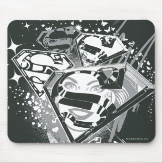 Supergirl Black and White Mouse Pad