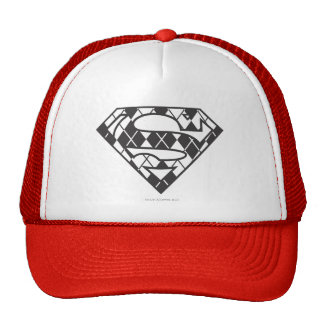 Supergirl Black Argyle Logo Trucker Hats