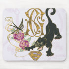 Supergirl Black Panther Mouse Pad