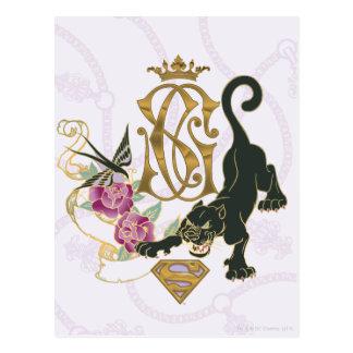 Supergirl Black Panther Postcard