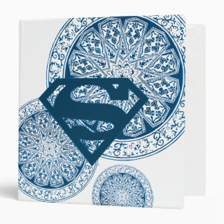 Supergirl Blue Circle Design Binders