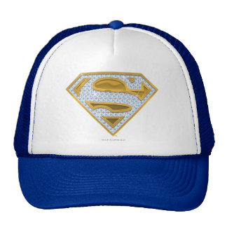 Supergirl Blue Jewels Mesh Hats