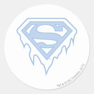 Supergirl Blue Logo Classic Round Sticker