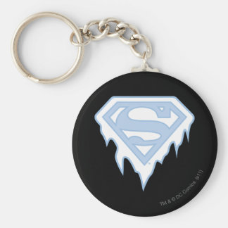 Supergirl Blue Logo Keychain