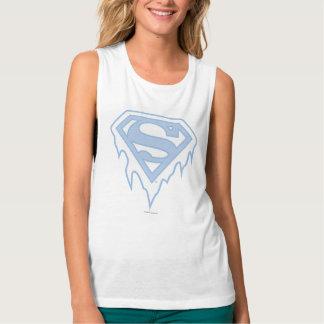 Supergirl Blue Logo Tank Top