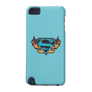 Supergirl Blue Logo with Flames iPod Touch (5th Generation) Cases