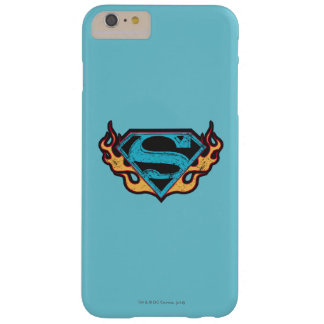 Supergirl Blue Logo with Flames Barely There iPhone 6 Plus Case