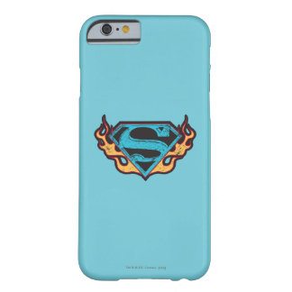 Supergirl Blue Logo with Flames Barely There iPhone 6 Case